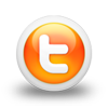 twitter-orange-round-button