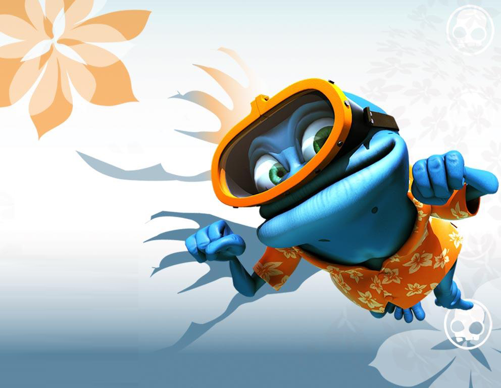 crazy frog 1024x768 background